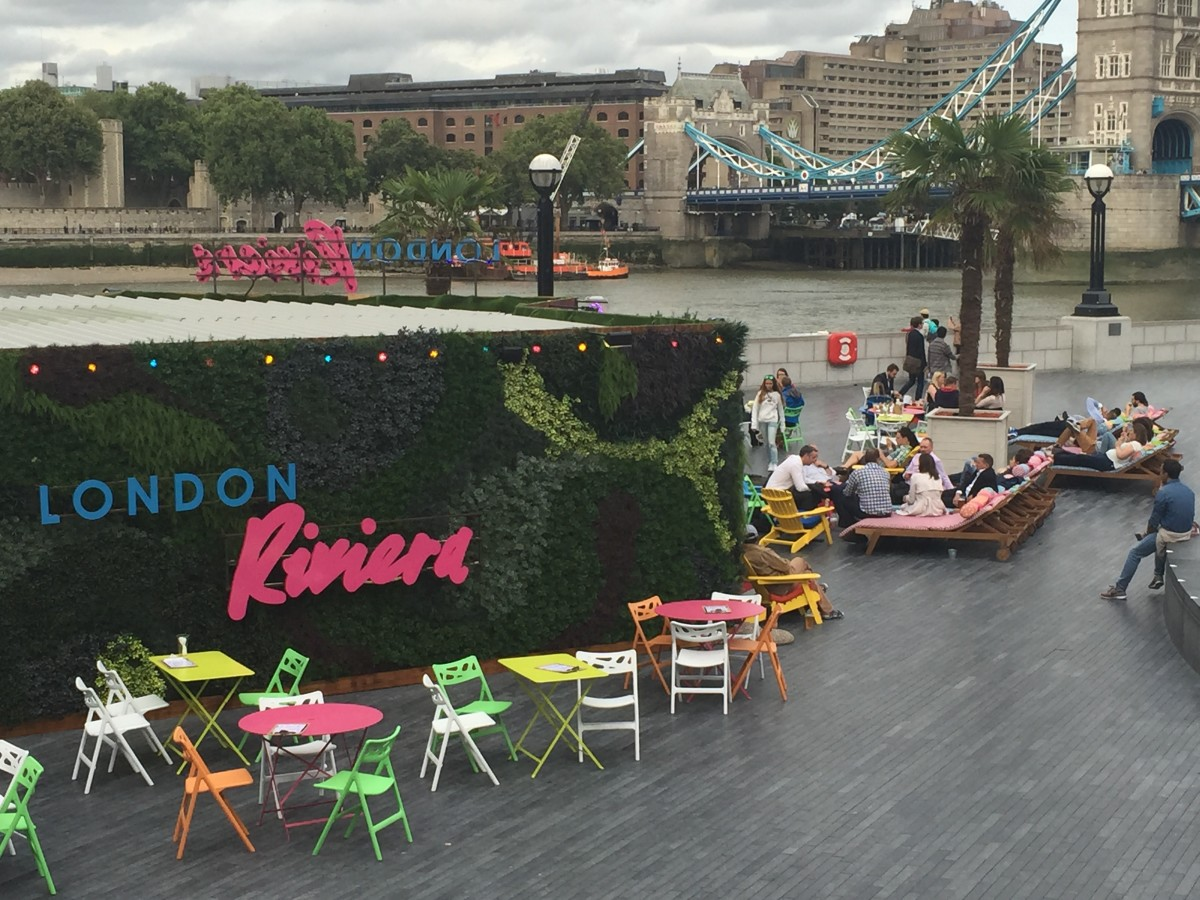 Riviera - themed popup. London travel guide