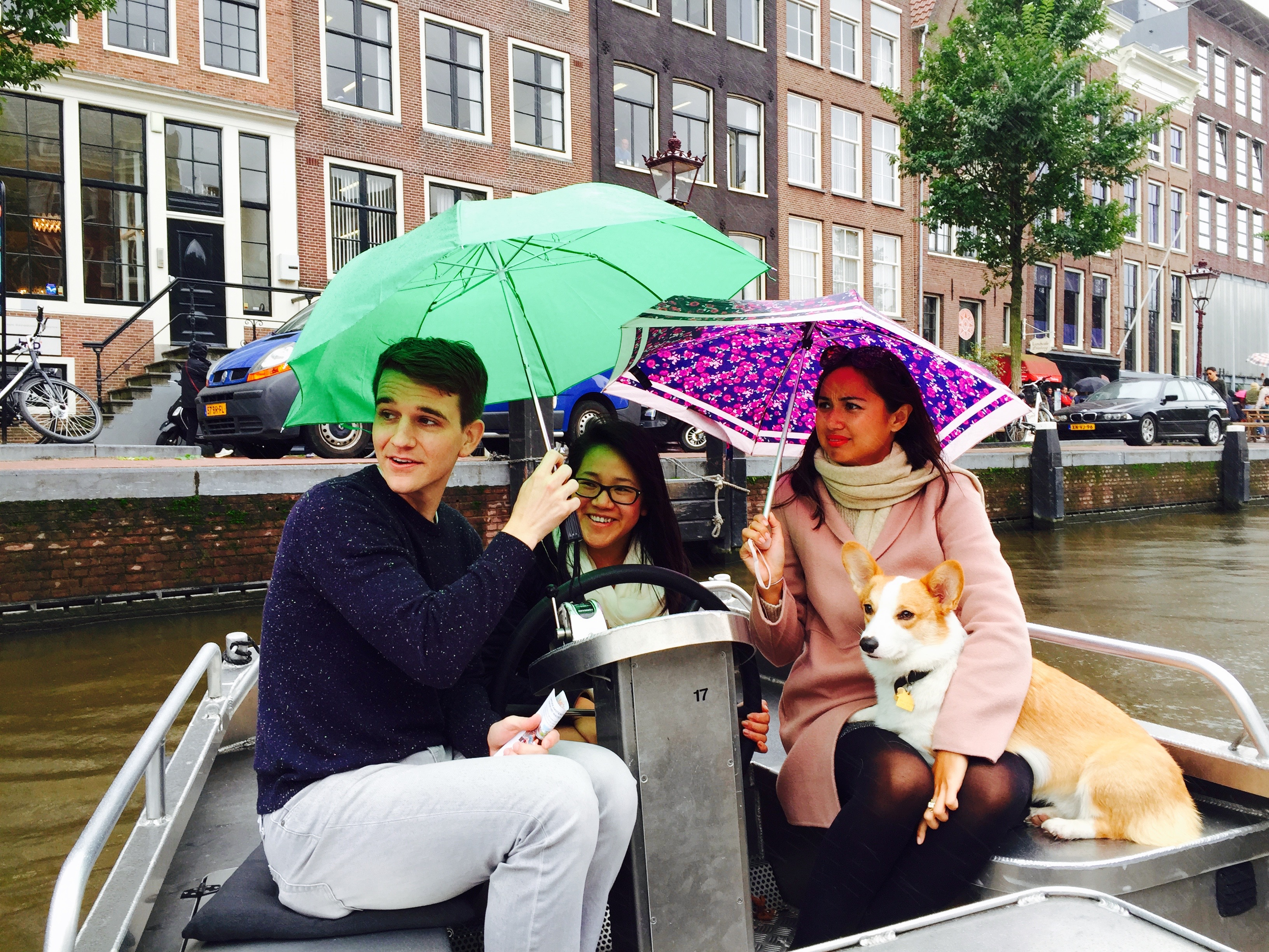 Luckily I had a scarf on my head. What to do in Amsterdam.