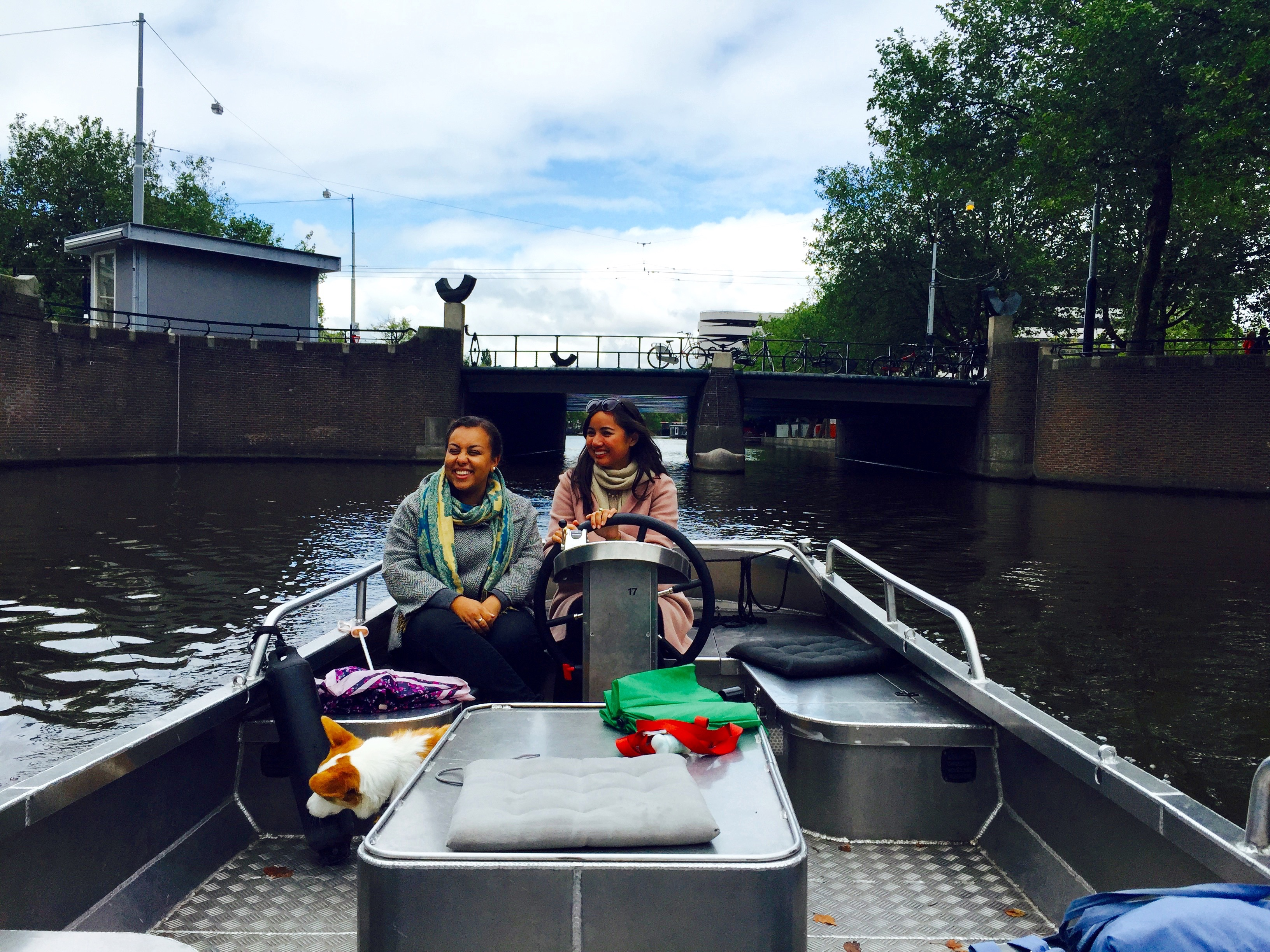 Trying to figure out how to park the boat was an adventure in and of itself. What to do in Amsterdam.