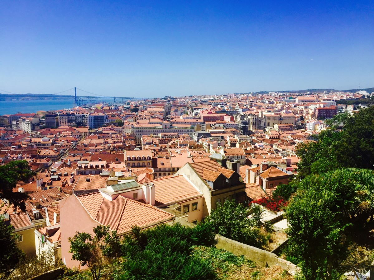 Alfama rooftops, Lisbon
