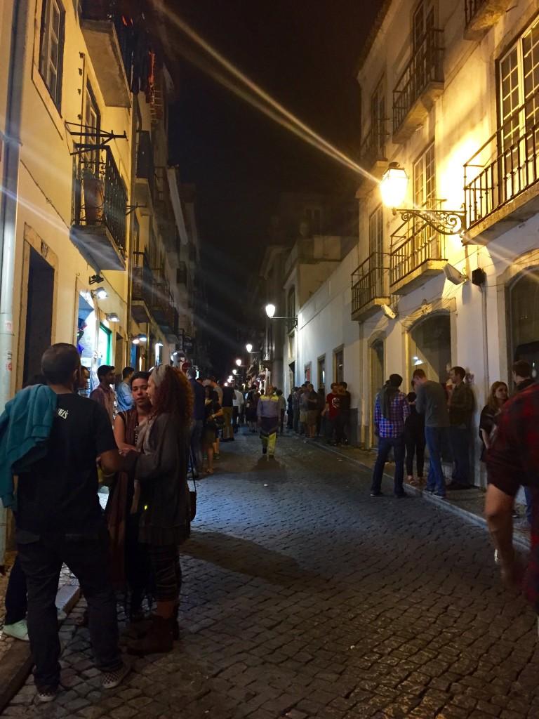 Bairro Alto around midnight. Lisbon
