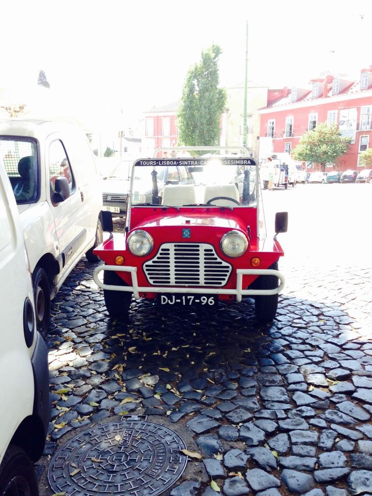 Cute cars in Alfama, Lisbon