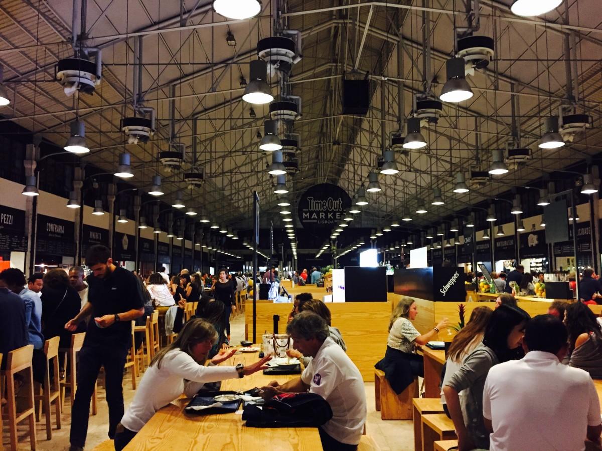 Inside the mercado, Lisbon