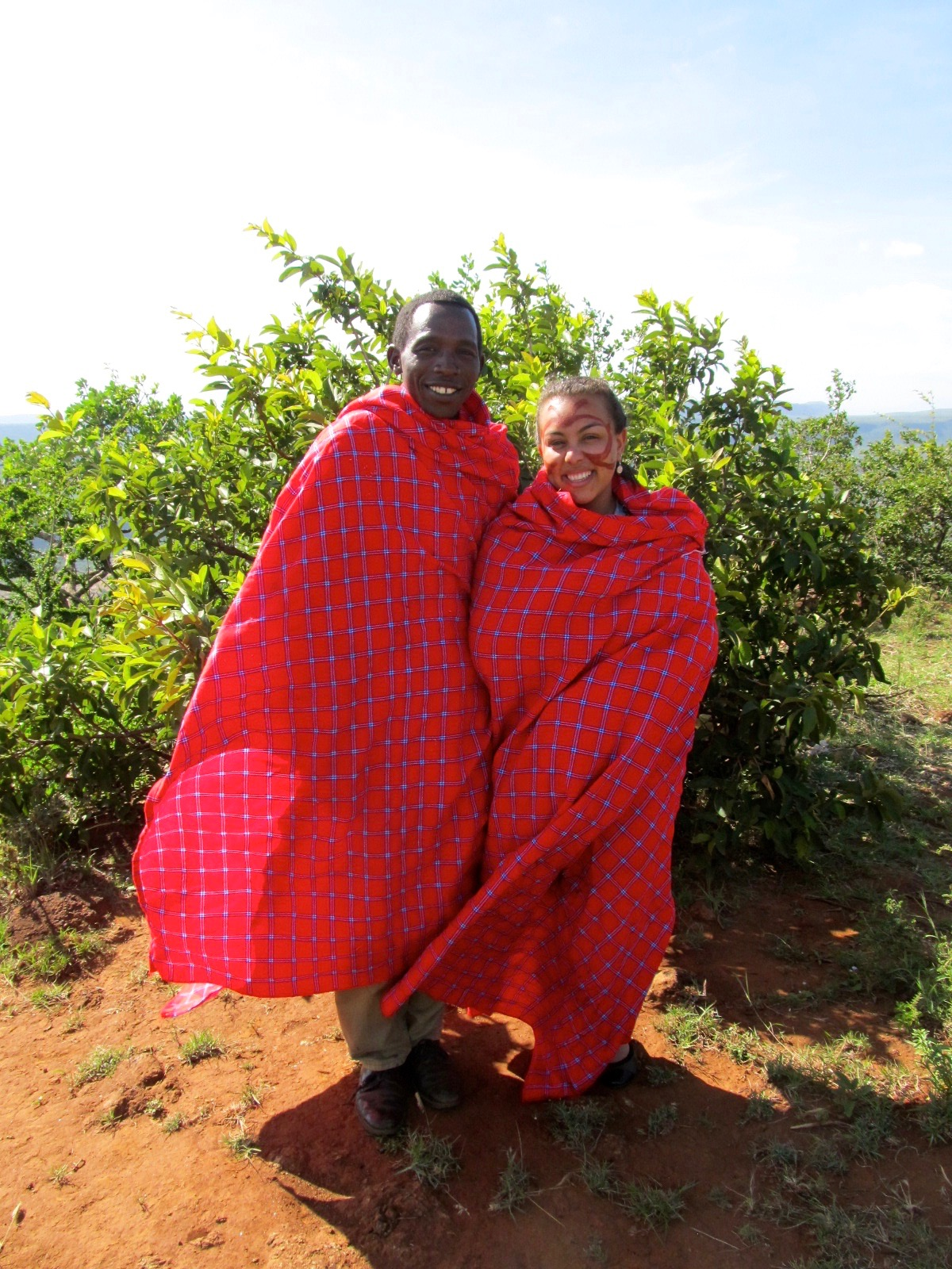 Making friends with the local Maasai in Kenya! Alternative accommodation.