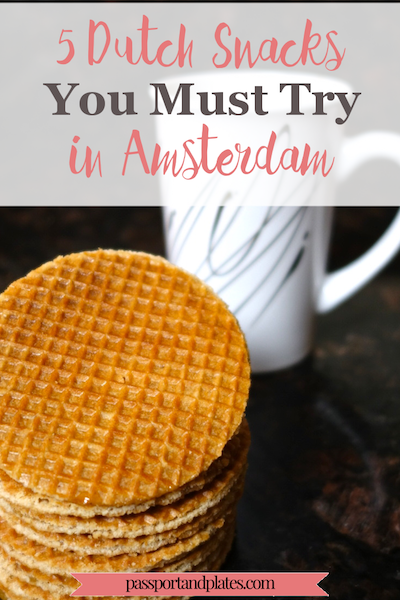 Amsterdam might not have the reputation of a foodie city, but the delicious eats impressed me! Read this to find out what to eat in Amsterdam (mostly snacks)! |http://passportandplates.com